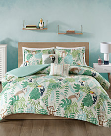 Urban Habitat Kids Tropical Tangle 5-Pc. Full/Queen Cotton Duvet Cover Set