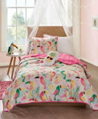 Tutti the Toucan 3-Pc. Twin Coverlet Set