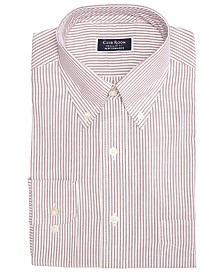 Club Room Men's Classic/Regular Fit Stretch Wrinkle-Resistant University Stripe Dress Shirt, Created for Macy's