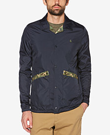 Original Penguin Men's Patch Pocket Reversible Printed Jacket