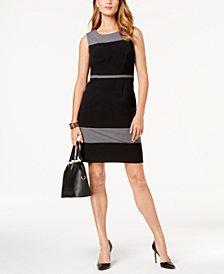 Nine West Colorblocked Crepe Dress