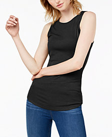 Bar III Ribbed Tank Top, Created for Macy's