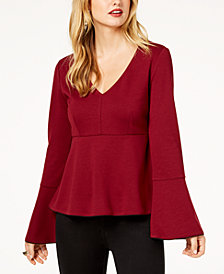 Zoe by Rachel Zoe Bell-Sleeve Empire-Waist Top, Created For Macy's