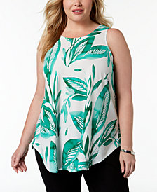Alfani Plus Size Sleeveless Swing Tunic, Created for Macy's