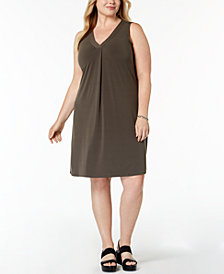 Alfani Plus Size V-Neck Dress, Created for Macy's
