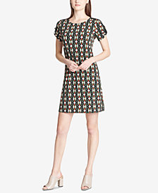 Calvin Klein D-Ring Printed Dress