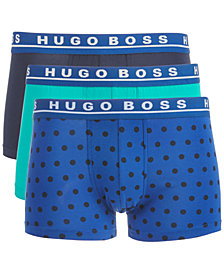 Hugo Boss Men's 3-Pk. Printed Stretch Trunks