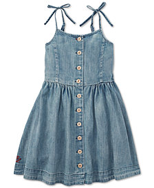 Polo Ralph Lauren Little Girls Buttoned Cotton Denim Dress