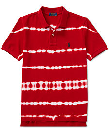 Polo Ralph Lauren Big Boys Tie-Dye Mesh Cotton Polo