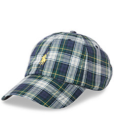 Polo Ralph Lauren Men's Plaid Cotton Cap