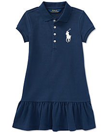Polo Ralph Lauren Toddler Girls Big Pony Mesh Polo Dress