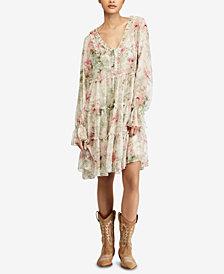 Polo Ralph Lauren Floral-Print Ruffled Dress