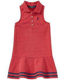 Polo Ralph Lauren Toddler Girls Striped Mesh Polo Dress