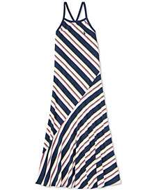 Polo Ralph Lauren Big Girls Striped Cotton Jersey Maxi Dress