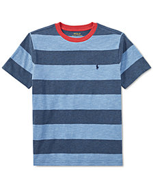 Polo Ralph Lauren Big Boys Striped Cotton Jersey Crew-Neck T-Shirt