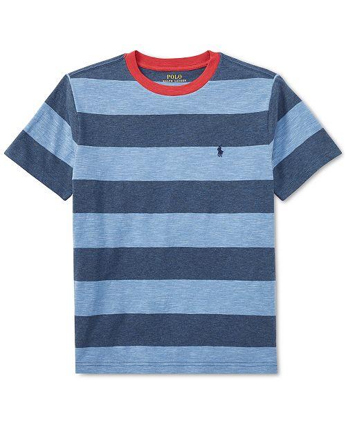 2a5057a7 ... Polo Ralph Lauren Big Boys Striped Cotton Jersey Crew-Neck T-Shirt ...