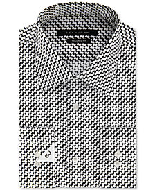 Sean John Men's Classic/Regular Fit Black Print Dress Shirt