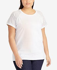 Lauren Ralph Lauren Plus Size Cotton T-Shirt