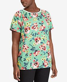 Lauren Ralph Lauren Plus Size Floral-Print T-Shirt