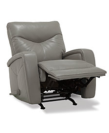 Erith Leather Pushback Rocker Recliner
