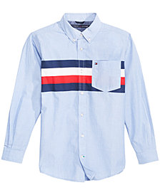 Tommy Hilfiger Big Boys William Striped Cotton Shirt