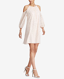 American Living Cold-Shoulder Georgette Dress
