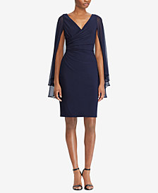 Lauren Ralph Lauren Georgette-Sleeve Dress