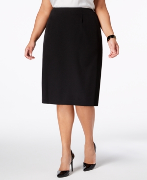 Macy's Canada-Office secret: a plus size pencil skirt from Kasper always looks pulled-together for 9-to-5 and beyond!
