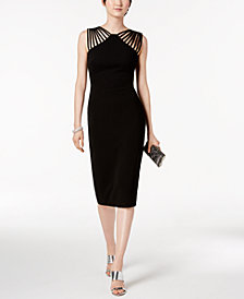 Sangria Strappy Sheath Dress