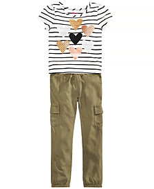Epic Threads Little Girls T-Shirt & Cargo Pants, Created for Macy's