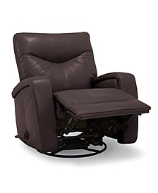 Erith Leather Swivel Glider Recliner