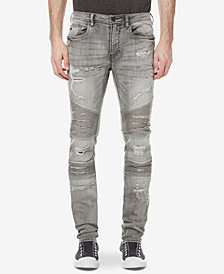 Buffalo David Bitton Men's Max-X Moto Skinny Fit Stretch Jeans