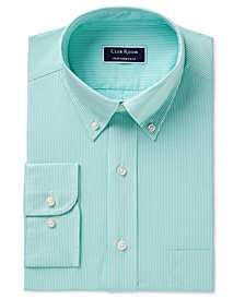 Club Room Men's Classic/Regular Fit Performance Bengal Stripe Dress Shirt, Created for Macy's