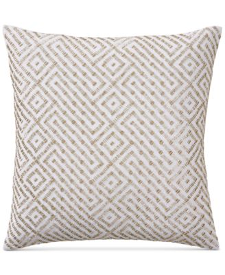 "Embroidered 18"" Square Decorative Pillow, Created for Macy's"