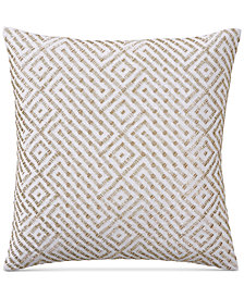 "Hotel Collection Embroidered 18"" Square Decorative Pillow, Created for Macy's"