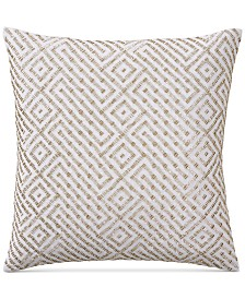 "CLOSEOUT! Hotel Collection Embroidered 18"" Square Decorative Pillow, Created for Macy's"