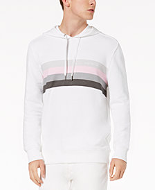 Calvin Klein Jeans Men's Striped Chest Hoodie