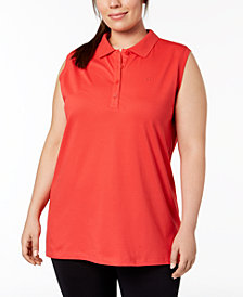 Calvin Klein Performance Plus Size Polo Top