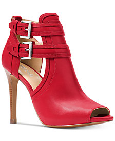 MICHAEL Michael Kors Blaze Peep-Toe Dress Booties