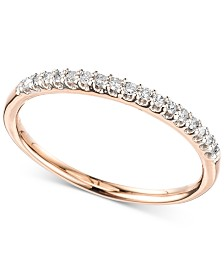 Elsie May Diamond Band (1/10 ct. t.w.) in 14k Gold or Rose Gold, Created for Macy's
