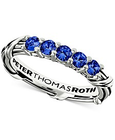 Blue Sapphire Ring (3/4 ct. t.w.) in Sterling Silver