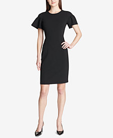 Calvin Klein Ruffled-Sleeve Sheath Dress