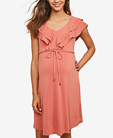Jessica Simpson Maternity Ruffled Dress