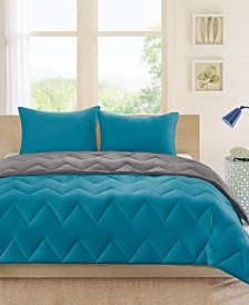 Trixie Reversible 3-Pc. Full/Queen Comforter Set