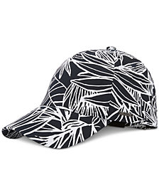 BOSS Men's Floral-Print Cotton Cap