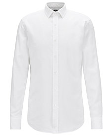 BOSS Men's Slim-Fit Micro Structure Cotton Shirt