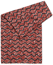BOSS Men's Patterned Fabric Woven Scarf