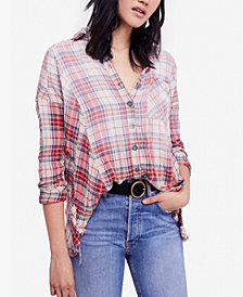 Free People Juniper Ridge Cotton Plaid Shirt