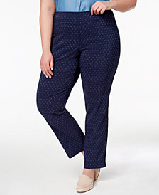 Charter Club Plus Size Tummy-Control Slim-Leg Pants, Created for Macy's