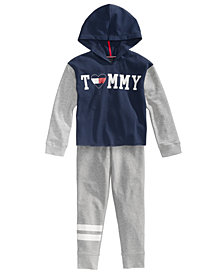 Tommy Hilfiger Colorblocked Hoodie & Football Stripe Sweatpants